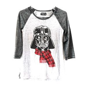 Star Wars Darth Vader Christmas Baseball Tee sz. M